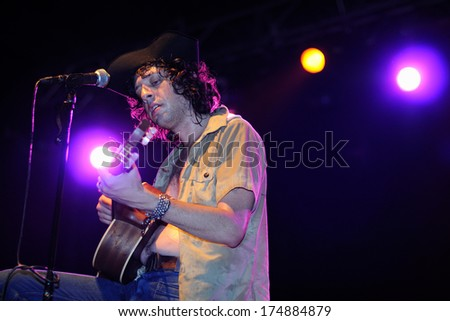 BARCELONA - JULY 23: Adam Green performs at Discotheque Razzmatazz on July 23, 2010 in Barcelona, Spain.