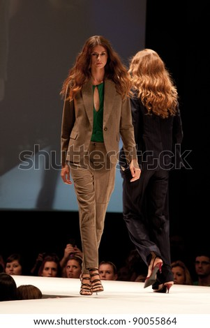 BARCELONA - JULY 15: Presentation of the new Stella McCartney Collection Fall/Winter 2011/2012 at The Brandery international fashion show in Barcelona on July 15, 2011. - stock photo