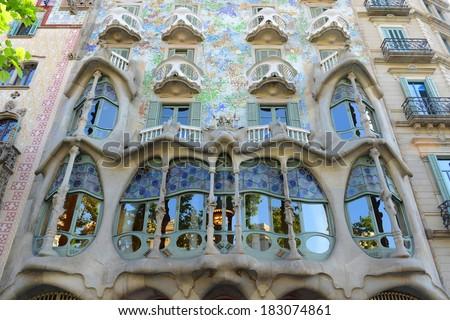 barcelona june 10 casa batllo modernism stock photo royalty free