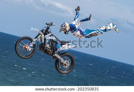 BARCELONA - JUNE 29: Xavi Dols Rider at LKXA EXTREME BARCELONA on June 29 2014 in Barcelona, Spain.  - stock photo