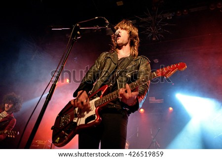 BARCELONA - MAR 7: The Dash (post-punk band) in concert at Bikini stage on March 7, 2015 in Barcelona, Spain. - stock photo