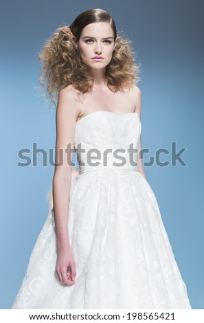 BARCELONA MAY 08 Model Walks On Stock Photo (Safe to Use) 198565421 ...