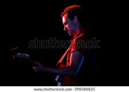 BARCELONA - MAY 30: Albert Hammond, Jr, guitarist of The Strokes (band), performs at Primavera Sound 2015 Festival on May 30, 2015 in Barcelona, Spain.