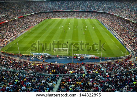 BARCELONA - MAY 23: Camp Nou Stadium on May 23, 2009 in Barcelona, Spain. - stock photo