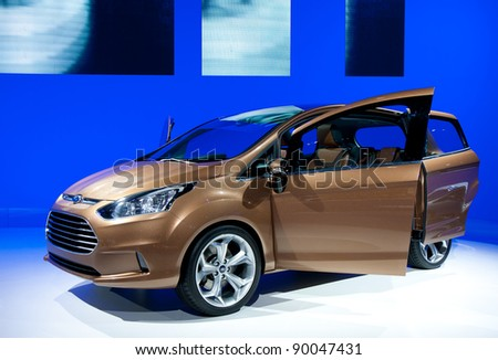BARCELONA - MAY 18: Ford B-Max at the 36th International Motor Show in Barcelona on May 18, 2011. - stock photo
