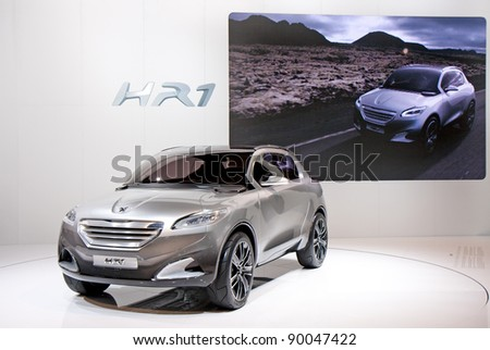 BARCELONA - MAY 18: Peugeot HR1 at the 36th International Motor Show in Barcelona on May 18, 2011. - stock photo