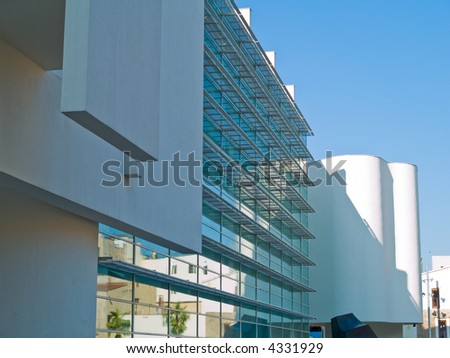 Barcelona museum of modern arts - stock photo