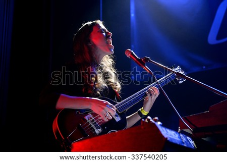BARCELONA - OCT 23: Deradoorian (band) in concert at Primavera Club 2015 Festival on October 23, 2015 in Barcelona, Spain.