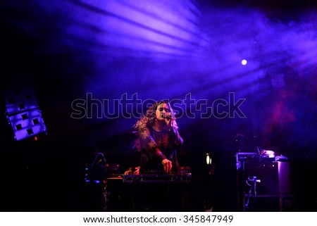 BARCELONA - OCT 25: Empress Of (band) in concert at Primavera Club 2015 Festival on October 25, 2015 in Barcelona, Spain.