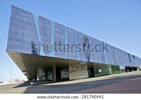 BARCELONA, SPAIN - APRIL 26. The Museu Blau in the Barcelona district Poblenou is a new cultural icon for Barcelona on April 26, 2012. It is a scientific museum in the north of Barcelona