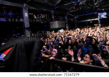 BARCELONA, SPAIN - FEB 12: The Script performs at Razzmatazz on February 12, 2011 in Barcelona, Spain. - stock photo