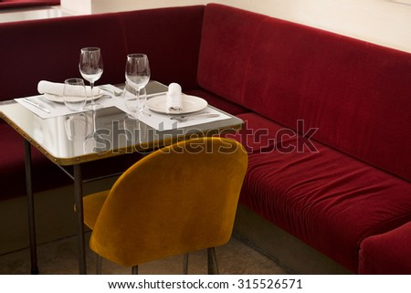 BARCELONA SPAIN 22 JUNE 2013: interior of Kafka cafe in el gothic district of Barcelona city  - stock photo