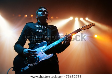 BARCELONA, SPAIN - MAR 18: Dorian band performs at Razzmatazz on March 18, 2011 in Barcelona, Spain. - stock photo