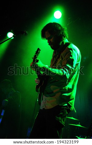 BARCELONA, SPAIN - MAR 15: Neil Halstead, English musician singer of the bands Slowdive and Mojave 3, performs a Velvet Underground complete album at Bikini on March 15, 2014 in Barcelona, Spain.