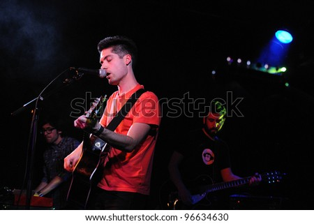 BARCELONA, SPAIN - MAR 02: Pumuky band performs at Apolo on March 02, 2012 in Barcelona, Spain.