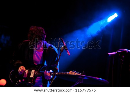 BARCELONA, SPAIN - MAY 31: Be Forest band performs at San Miguel Primavera Sound Festival on May 31, 2012 in Barcelona, Spain. - stock photo