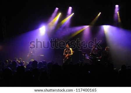 BARCELONA, SPAIN - OCT 29: Twin Shadow band performs at Apolo on October 29, 2012 in Barcelona.