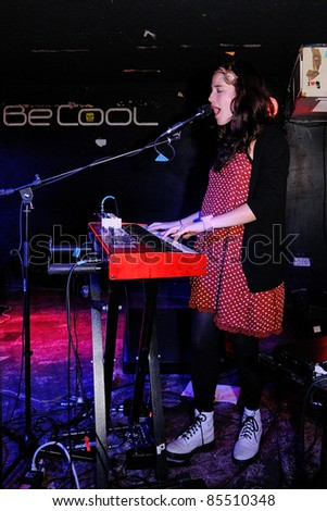 BARCELONA, SPAIN - SEPT 21: Ximena Sariana, band from Chile, performs at BeCool on September 21, 2011 in Barcelona, Spain.