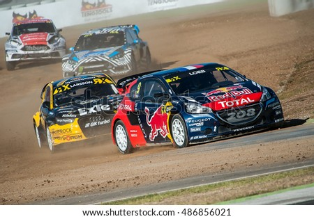 BARCELONA, SPAIN - SEPTEMBER 17, 2016: FIA World Rallycross Championship at Circuit de Barcelona-Catalunya.