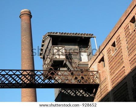 Barcelona, Spain. 19th century textile factory called Colonia Guell. - stock photo