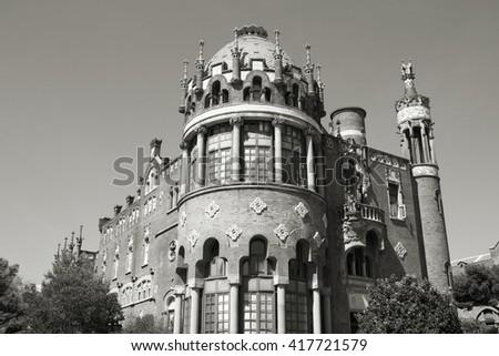 Barcelona, Spain - UNESCO listed hospital. - stock photo