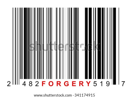 Barcode for identifying all kinds of forgery goods