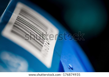 Barcode numbers on a product - stock photo
