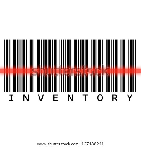 Barcode scanning for inventory - stock photo