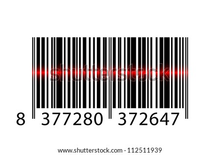 barcode with laser beam