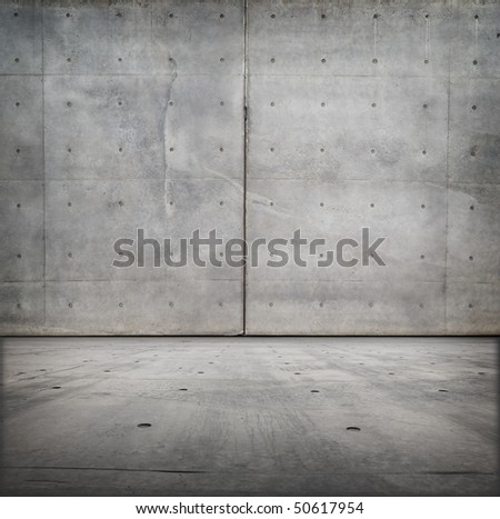Bare concrete grungy room - stock photo