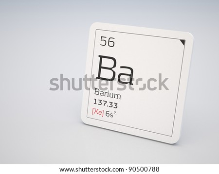 Barium - element of the periodic table