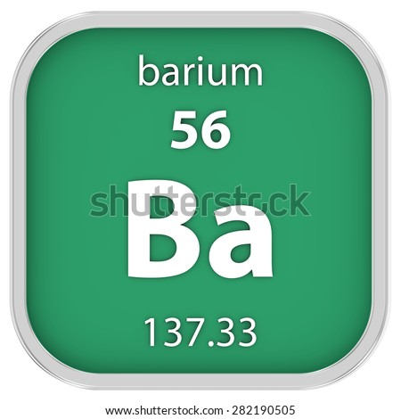 Barium material on the periodic table. Part of a series. - stock photo