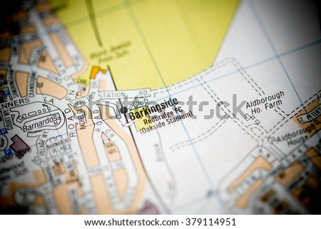 Barkingside. London, UK map.