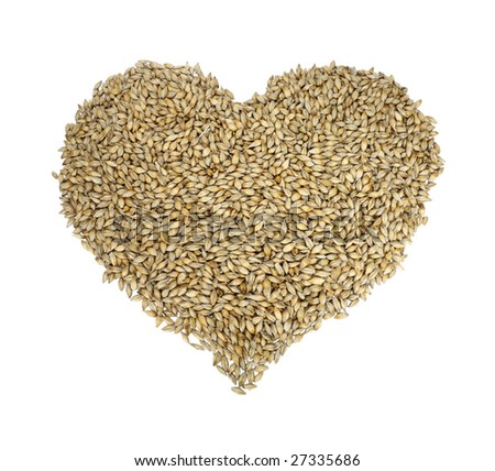Barley in the form of a heart
