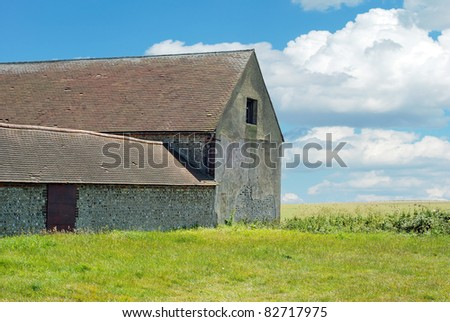 Barn and shed on a farm