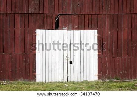 barn doors - stock photo
