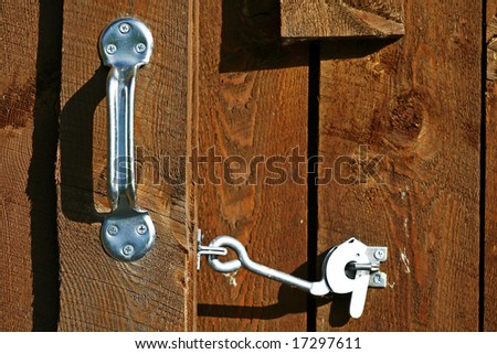 Barn Handle and Latch - stock photo