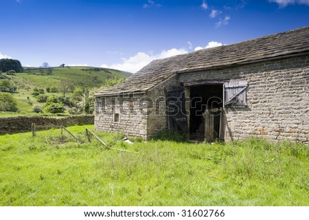 Barn in Peak District National Park Derbyshire England