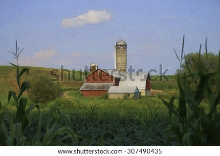 Barn in Rural America, Located in Mifflenburg, Pennsylvania