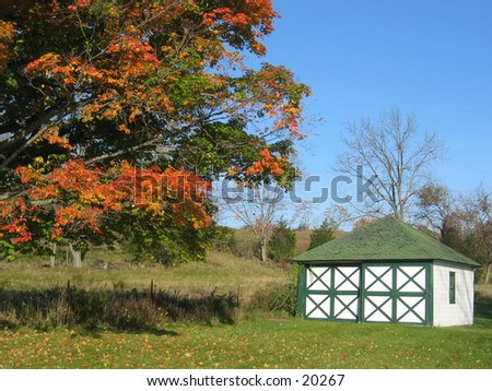 Barn in the country. - stock photo