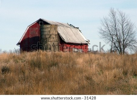 barn in the countryside - stock photo