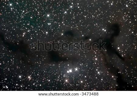 Barnard 150 dark nebula - stock photo