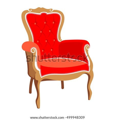 Barocco red armchair illustration