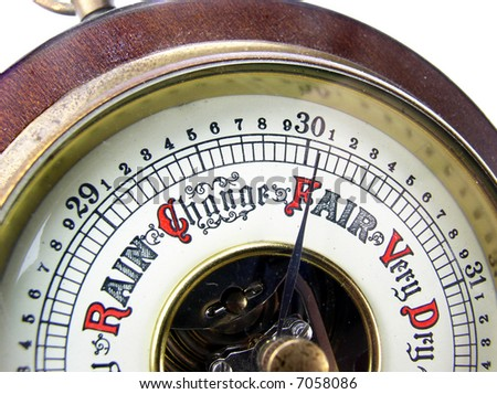 Barometer, aneroid - stock photo