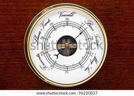 barometer for weather forecast and pressures - stock photo