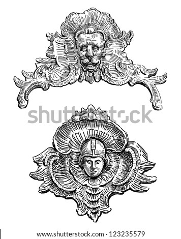 Baroque architecture stock images royalty free images for Baroque architecture elements