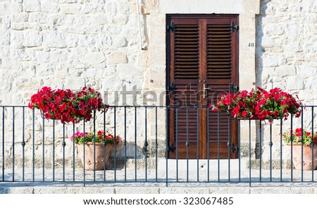 Baroque architecture in the province of Ragusa, Sicily, Italy.   - stock photo