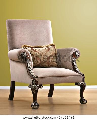baroque armchair - stock photo