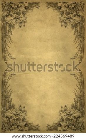 Baroque background - stock photo
