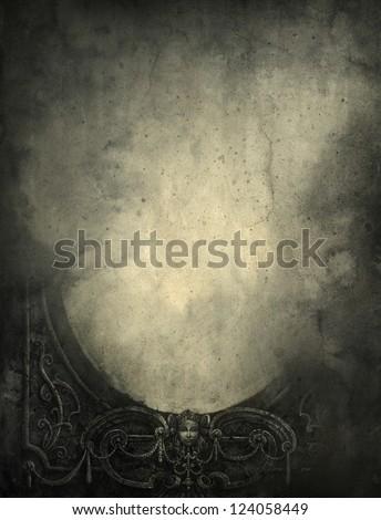 Baroque background, mixed media - stock photo
